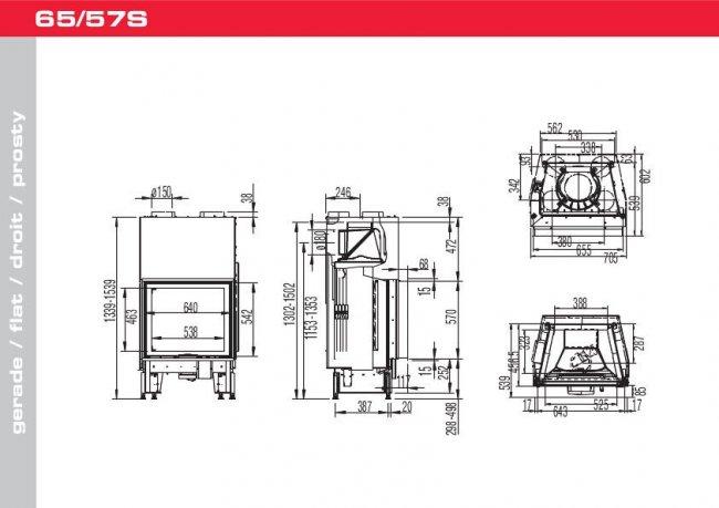 Austroflamm 65/57 S 2.0 Flat