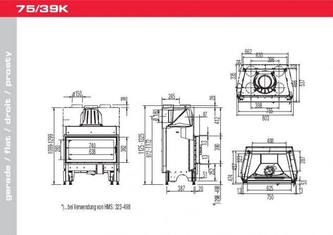 Austroflamm 75/39 K 2.0 Flat