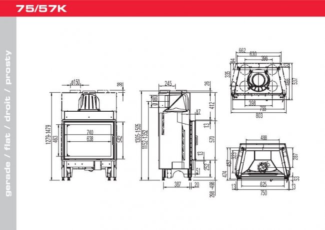 Austroflamm 75/57 K 2.0 Flat