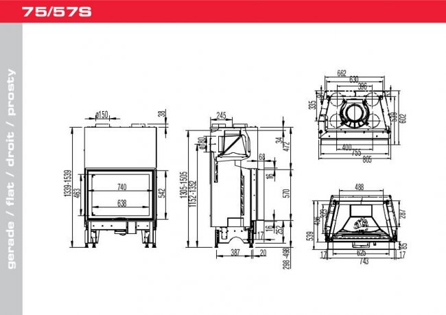 Austroflamm 75/57 S 2.0 Flat