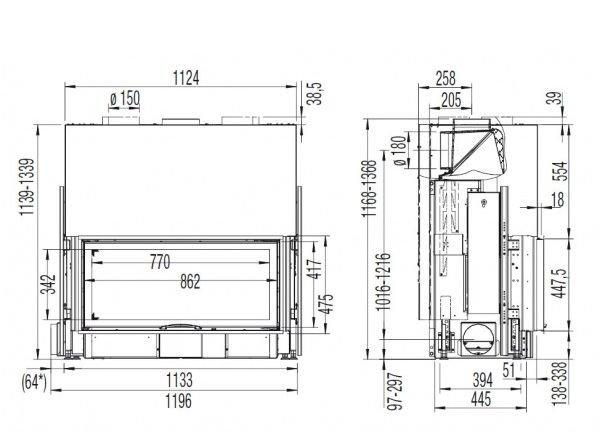 Austroflamm  97/45 S 2.0 Flat