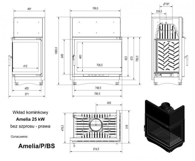 Kratki Amelia P/BS 25KW