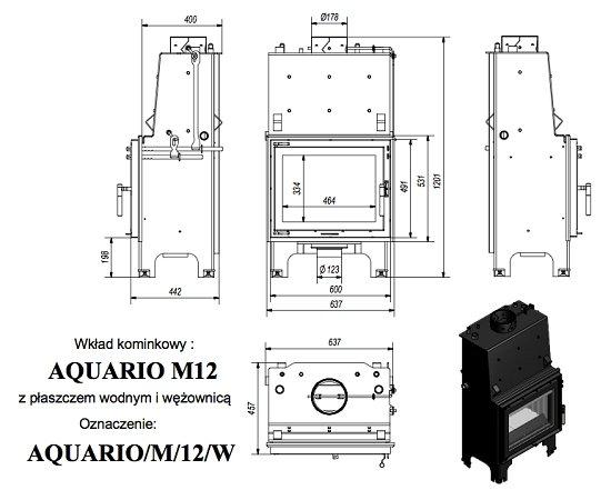 Kratki Aquario M 12KW PW