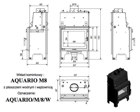 Kratki Aquario M 8KW PW
