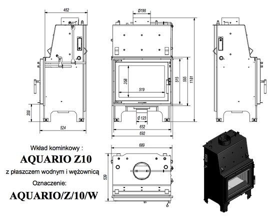 Kratki Aquario Z 10KW PW