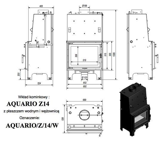 Kratki Aquario Z 14KW PW