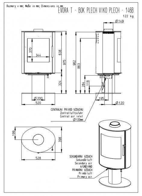 Romotop EVORA T 03 su plieno apdaila