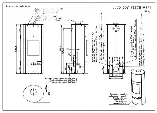 Romotop LUGO plieninė su šilumokaičiu