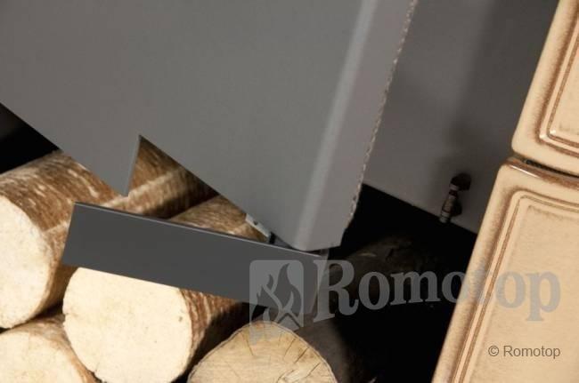 Romotop TALA 11 tiesiu stiklu su keramikos apdaila ir šilumokaičiu