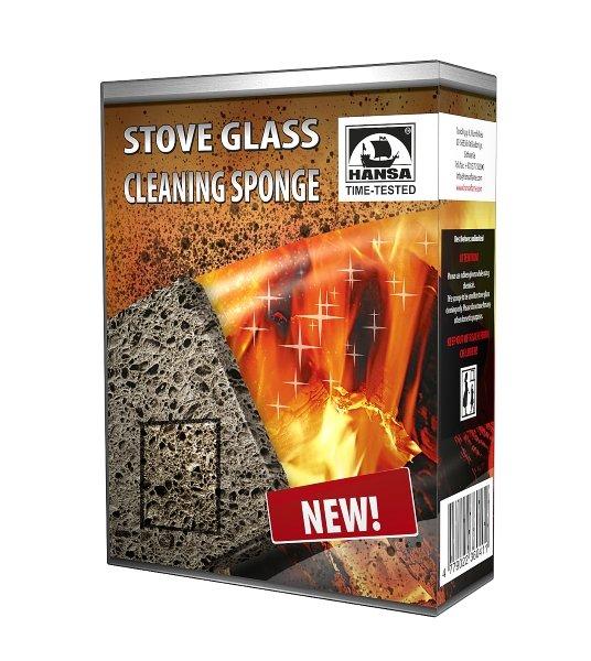Židinių stiklų valymo kempinė